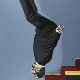Eduardo Arroyo. Vestido bajando la escalera, 1976