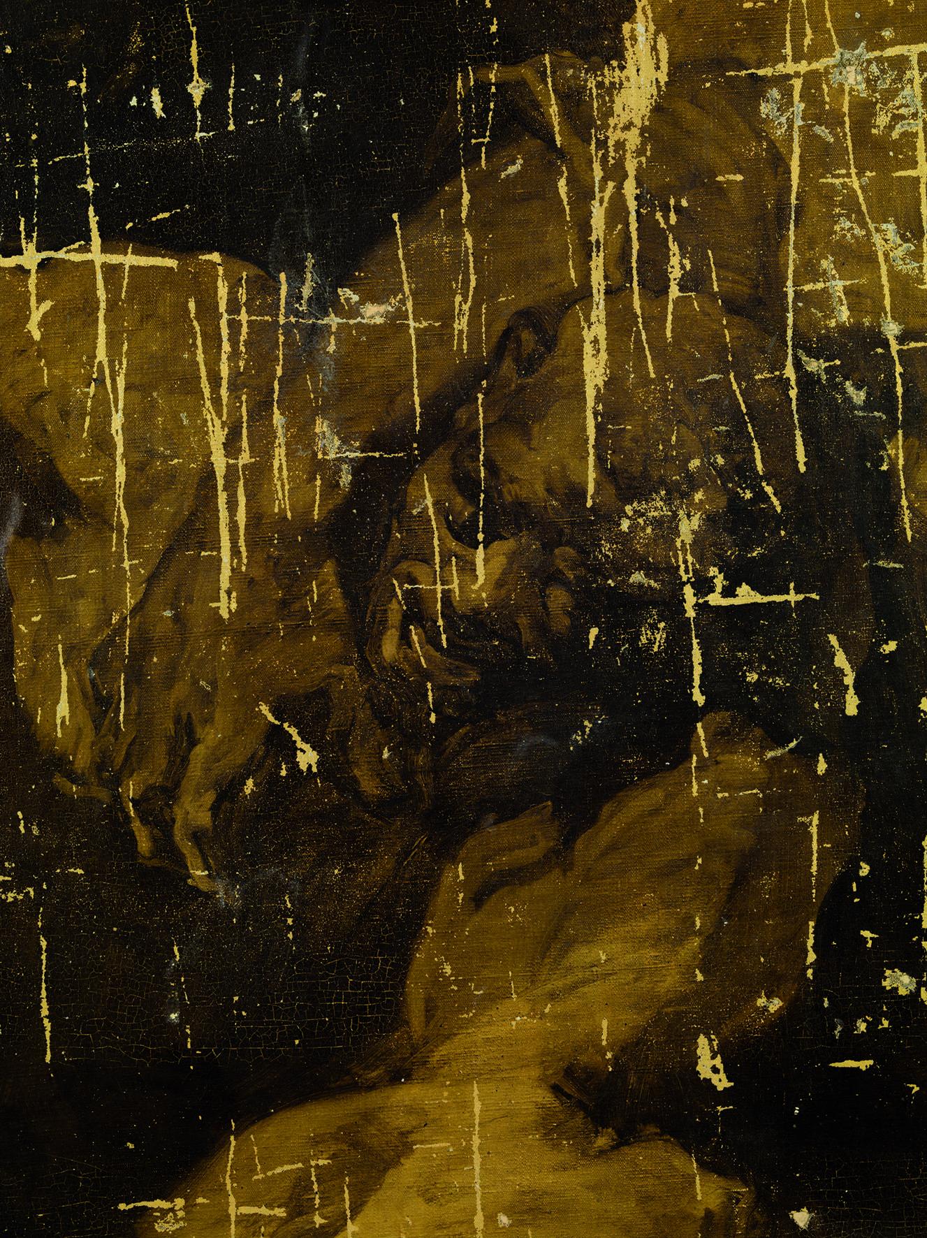 Josep Maria Sert, Fragmento deteriorado del Homenaje al Oriente, Catedral de Vic, 1926-1927. © Museu Nacional d'art de Catalunya. Foto: Ferran Gimenez