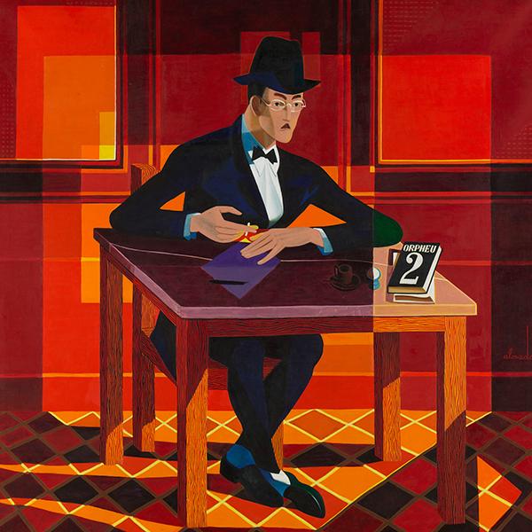 Almada Negreiros. Retrato de Fernando Pessoa, 1964.  Coleção CAM, FCG, Lisboa