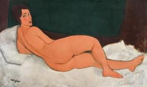 Modigliani. Nu couché (sur le côté gauche), 1917
