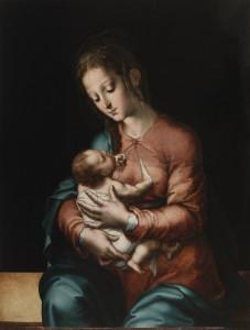 Luis de Morales. La Virgen de la Leche, hacia 1565. Museo Nacional del Prado