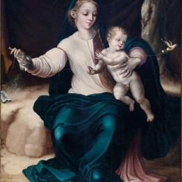 Luis de Morales. La Virgen del Pajarito, 1546. Parroquia San Agustín de Madrid