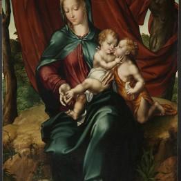 Luis de Morales. La Virgen con el Niño y  s an Juanito, hacia 1545-1555. S.I.B.  Catedral de Salamanca