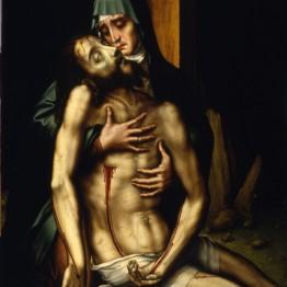 Luis de Morales. La Piedad, hacia 1560. Madrid, Museo de la Real Academia de Bellas Artes de San Fernando