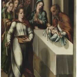 Luis de Morales. La Purificación de la Virgen  o La Presentación de Jesús en el Templo, hacia 1562. Museo Nacional del Prado
