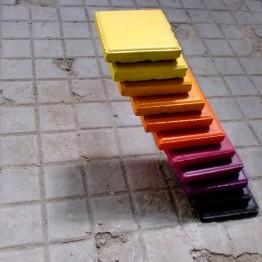 E1000. (Adoquines saliendo del suelo) -Stairs to Nowhere (Escaleras a ninguna parte), 2013
