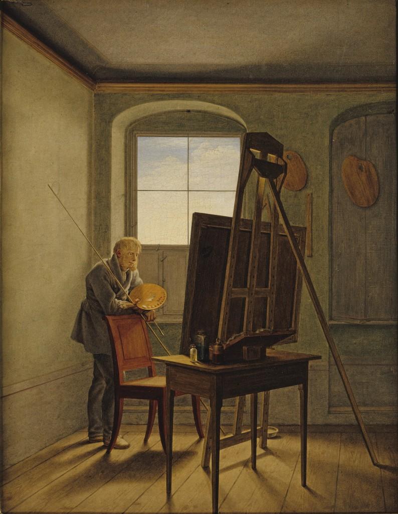 Kersting. Friedrich en su estudio, 1819