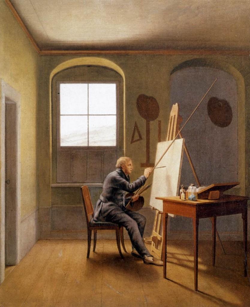 Kersting. Friedrich en su estudio, 1811