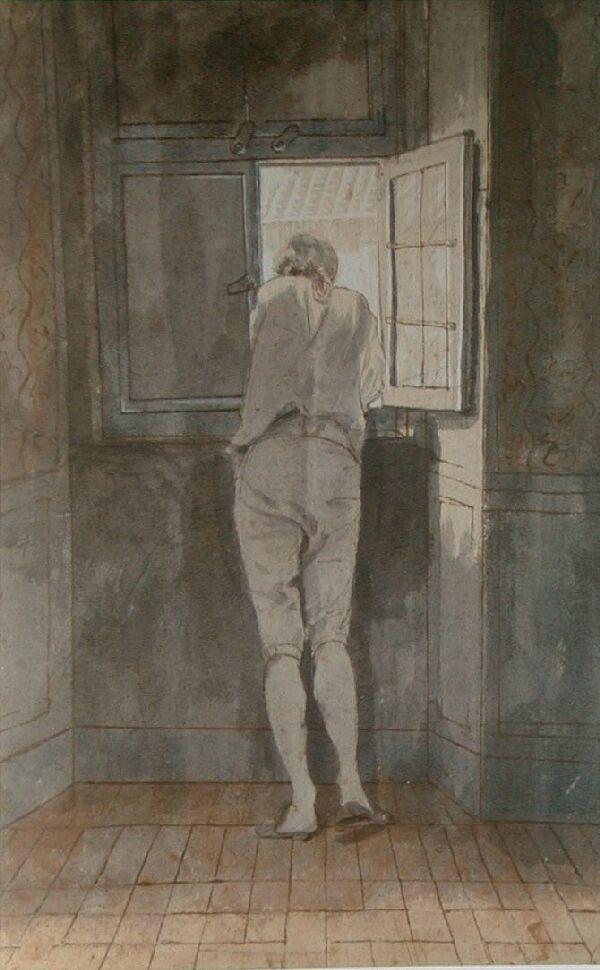 Tischbein. Goethe en la ventana, 1787