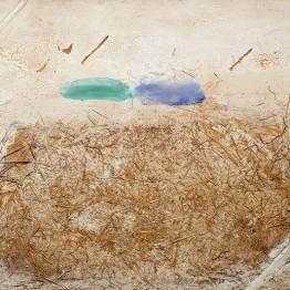 Antoni Tàpies. Verd-blau palla (Green-Blue Straw), 1968.