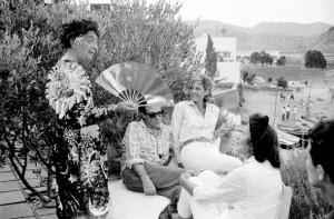 Juana Biarnés, Salvador Dali, Gala, Melinda Mercouri y Henry - François Rey. Porttilgat. Cadaqués © Juana Biarnés