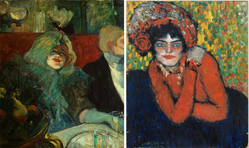 Henri de Toulouse-Lautrec. En un reservado, hacia 1899. The Courtauld Gallery, Londres
