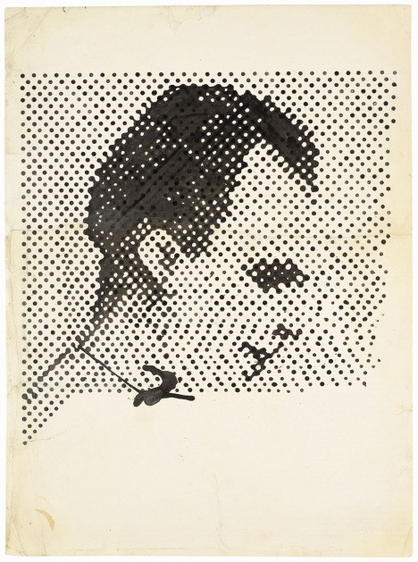 Sigmar Polke. Raster Drawing (Portrait of Lee Harvey Oswald), 1963