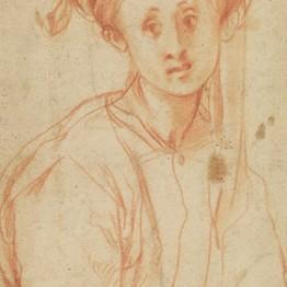 Jacopo Pontormo. Joven con turbante. Gabinetto Disegni e Stampe degli Uffizi, Florencia