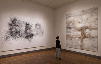 """Imagen en sala de """"El espíritu de la pintura. Cai Guo-Qiang en el Prado"""". Foto © Wen-You Cai, cortesía de Cai Studio"""