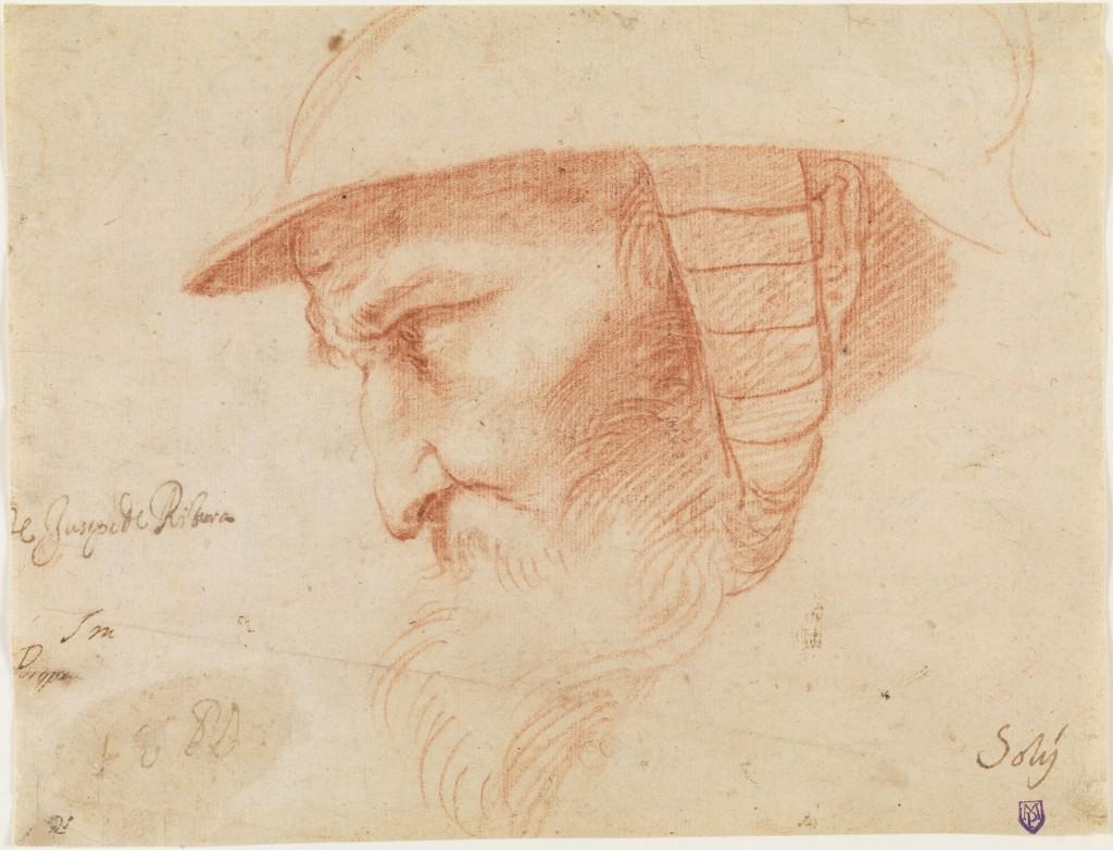 José de Ribera. Cabeza de guerrero. Primera mitad 1610s. Madrid, Museo Nacional del Prado