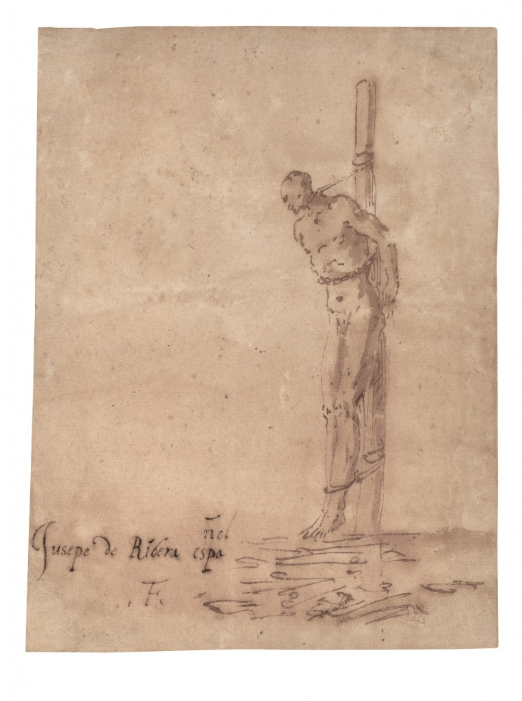 José de Ribera. Hombre atado a una estaca. Primera mitad 1640. San Francisco, Fine Arts Museums of San Francisco. Achenbach Foundation for Graphic Arts