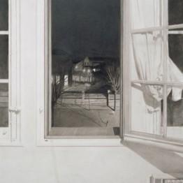 Francisco López. Ventana de noche, 1972. Colección Banco de España