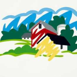 Tom Wesselmann. House and barn in distance, 1991