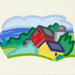 Tom Wesselmann. Study for house and barn, 1991