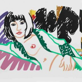 Tom Wesselmann. Monica in robe with Motherwell, 1994