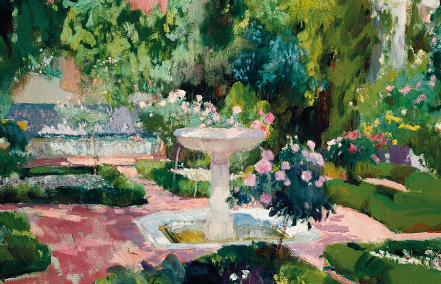 Los jardines de sorolla su pasi n por la bot nica en bancaja for Pintura para estanques
