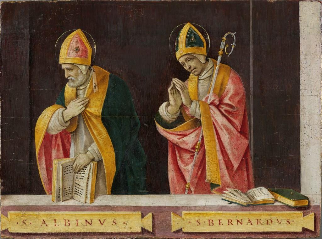 Filippino Lippi. San Albino y san Bernardo, 1496