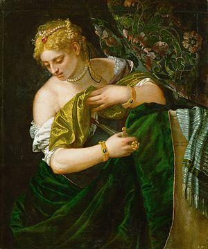 Veronés. Lucrecia, 1580-1583. Kunsthistorisches Museum, Viena