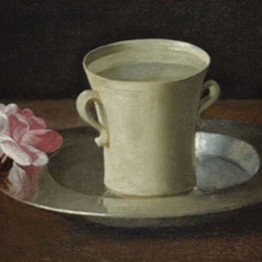 Francisco de Zurbarán. A Cup of Water and a Rose, ca. 1630. The National Gallery, Londres