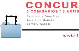 3 COMISARIOS / 3 ARTISTAS