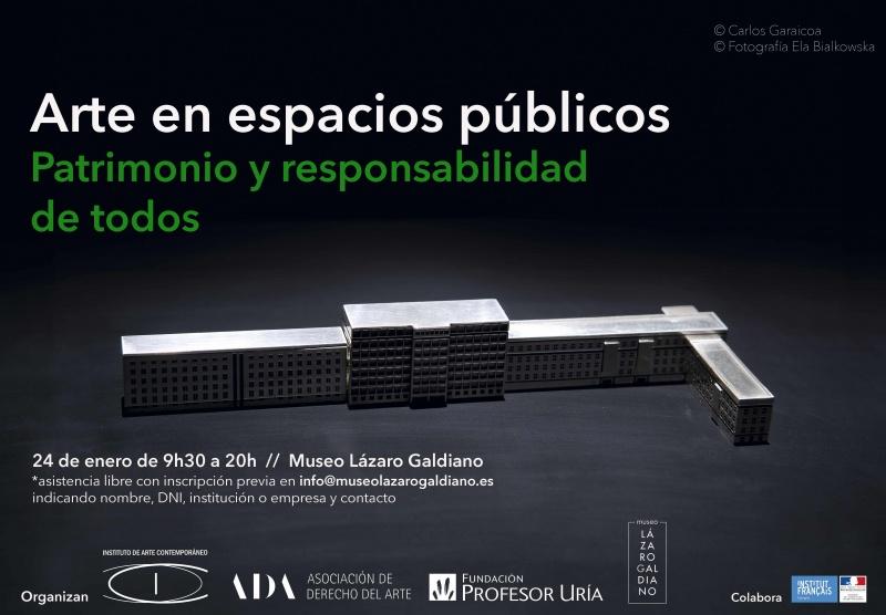 Arte en espacios públicos. Patrimonio y responsabilidad de todos. Jornada en el Museo Lázaro Galdiano, el 24 de enero de 2018
