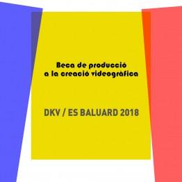 Beca de producción a la creación videográfica DKV/Es Baluard