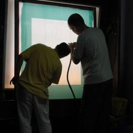 Curso de iniciación a la serigrafía. En enero y febrero de 2017, en Bilbao Arte