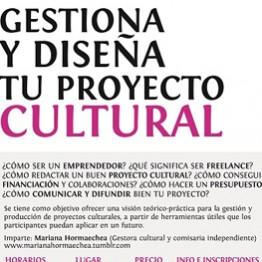 Gestiona y diseña tu proyecto cultural