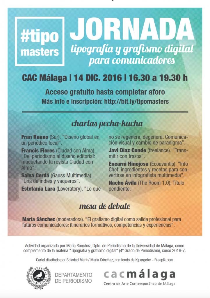 Tipografía y grafismo digital para comunicadores. Jornada en el CAC Málaga