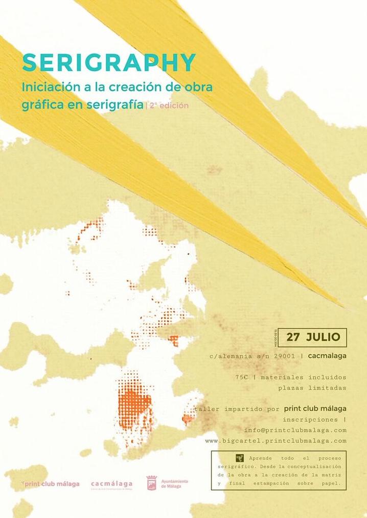 Iniciación a la creación de obra gráfica en serigrafía. Taller en el CAC Málaga
