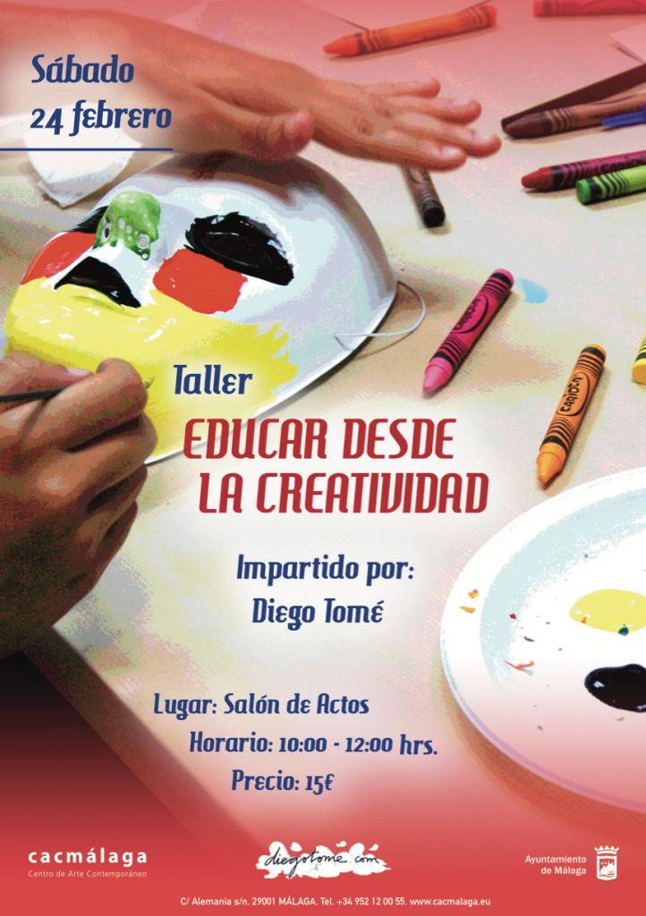 Educar desde la creatividad. Taller en el CAC Málaga, el 24 de febrero