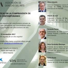 Buenas prácticas en la compraventa de arte contemporáneo- Seminario organizado por la asociación de Derecho del Arte en CaixaForum Madrid