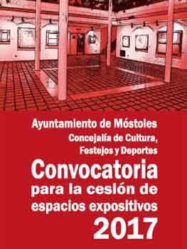 Convocatoria para la cesión de espacios expositivos. Organiza el Ayuntamiento de Móstoles