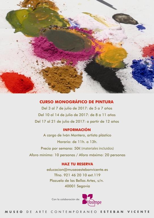 Curso monográfico de pintura. En julio, en el Museo Esteban Vicente de Segovia