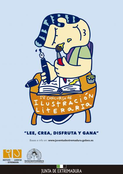 IV Concurso de Ilustración Literaria. Convocado por el Instituto de la Juventud de Extremadura