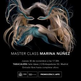 Master Class de Marina Núñez. El 30 de noviembre, en Tabacalera. Promoción del Arte