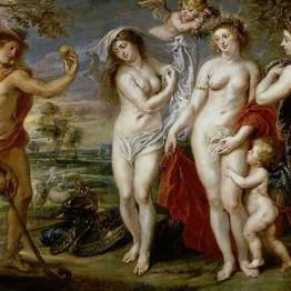 Rubens. El juicio de París. Visistas en latín a obras de Rubens en el Prado.