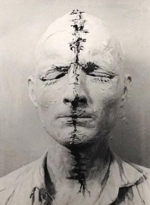 Günter Brus. Selbstbemalung II (Self Painting), 1964