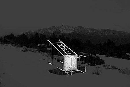 Llorenç Ugas Dubreil«Port del Compte», 2017. 50 x 70 cm. C-print montado en dibond y metacrilato. Del proyecto «Blacklandscape» (en proceso). Edición 1/5 + 2 P.A. Stand B7.