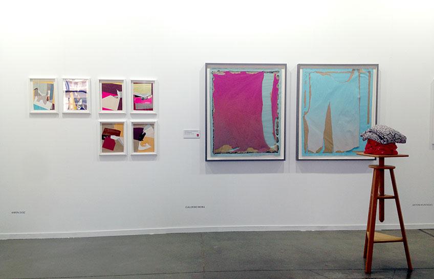 Estampa 2017. Obras de Miren Doiz y Guillermo Mora (Premio Comunidad de Madrid Estampa 2017) en la galería Moisés Pérez de Albéniz