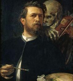 Böcklin. Autorretrato junto a la muerte tocando el violín, 1872