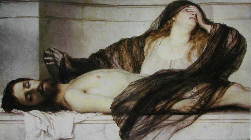 Böcklin. María Magdalena llorando ante Cristo muerto, 1867