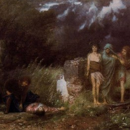 Böcklin. Asesino perseguido por las furias, 1870
