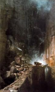 Böcklin. Dragón en un desfiladero rocoso, 1870